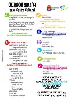 Cursos 2013/ 2014 en Centro Cultural