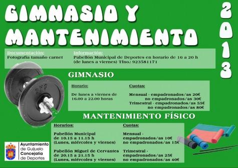 Gimnasio y mantenimiento físico en Guijuelo