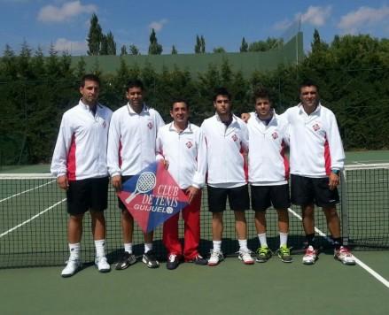 Representantes del club de tenis de Guijuelo. Foto archivo