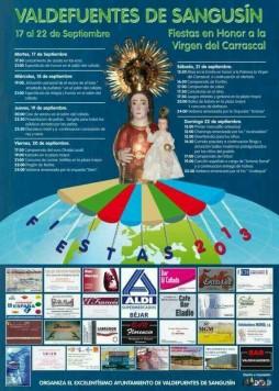 Programa festivo de Valdefuentes de Sangusín