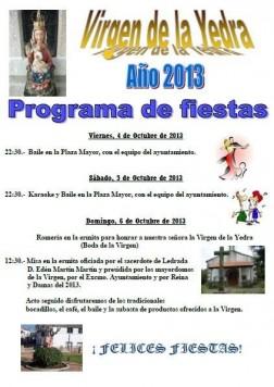 Fiestas de la Virge de la Yedra en Ledrada