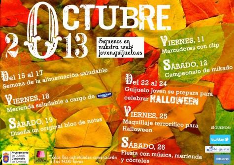 Agenda de octubre en Guijuelo Joven