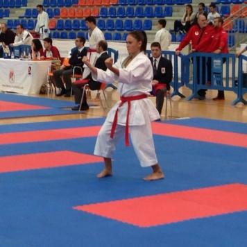 La karateca guijuelense Alicia González