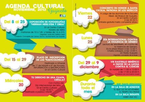 Agenda Cultrual de mes de noviembre