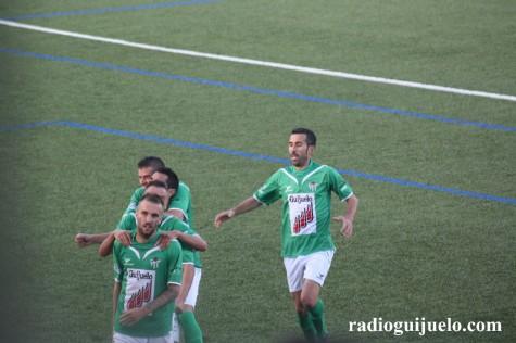 Celebración de un gol en el C.D. Guijuelo