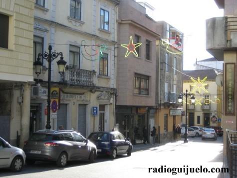 Decoración navideña en las calles de Guijuelo