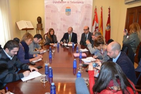 Rueda de Prensa en la Diputación de Salamacna. Foto Salamancartv.com