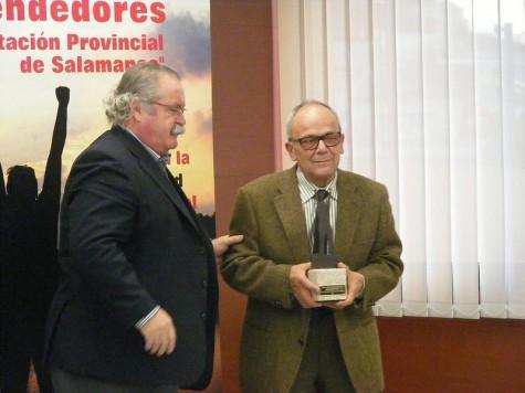 Premio emprendedores a la empresa guijuelense Altasierra. Foto Salamancartv.com