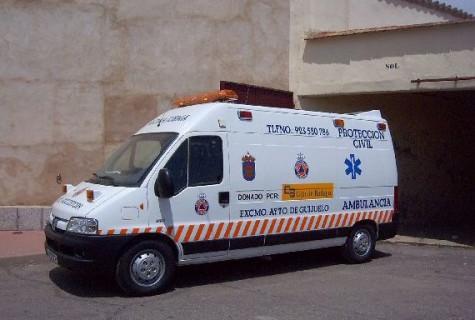 Ambulancia protección civil de Guijuelo