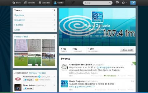 Radio Guijuelo en twitter