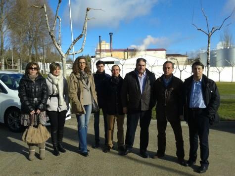 Imtegrantes  PSOE de Salamanca en Guijuelo. Foto PSOE Salamanca