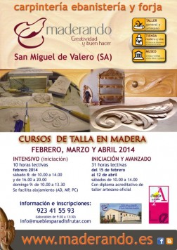 Curso de Talla de madera en San Miguel de Valero