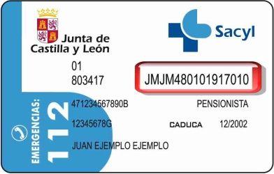 Tarjeta Sanitaria Junta Castilla y León