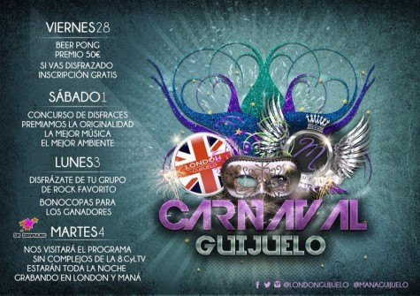 Carnaval en el London Guijuelo