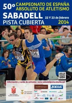 Cartel Campeonato Absoluto de Pista Cubierta en Sabadell