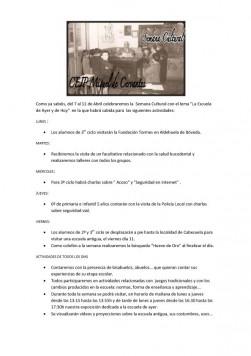 Semana cultural  en el Miguel de Cervantes