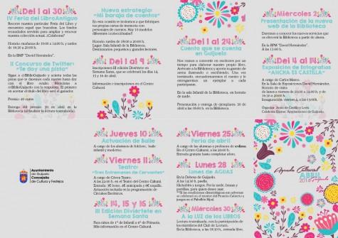 Agenda Cultural mes de abril