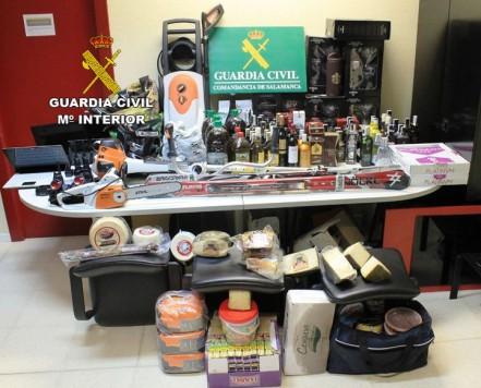 Material robado en la Comarca. Foto Guardia Civil