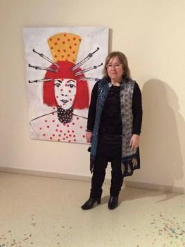 La artista Elisa Merino en su exposición