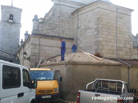 Obras en la Iglesia de Guijuelo