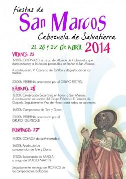 Fiestas de San Marcos Cabezuela 2014