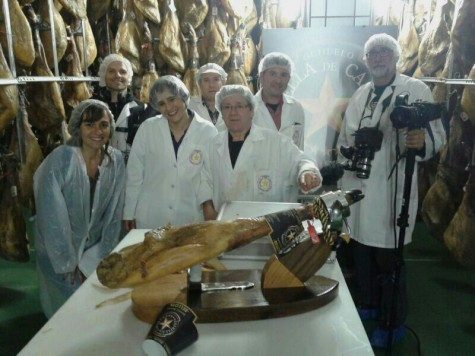 Grabación de un programa de televisión en Guijuelo. Foto Jesús Merino