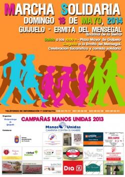 Cartel marcha solidaria 2014