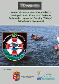 Exhibición de salvamento acuático en Guijo de Ávila
