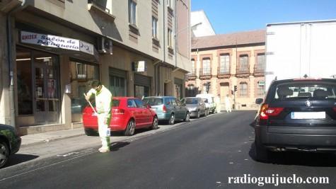 Repintado en la calle Príncipe Felipe