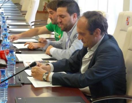Reunión en la sede de la federación de Castilla y León. Foto FCYLF