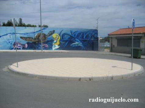 Zona de las piscinas donde se ubicarán los aparcabicis
