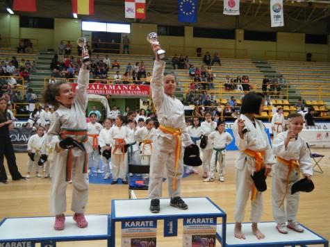 Podium del campeonato provincial de kárate. Foto Gimnasio La Luna
