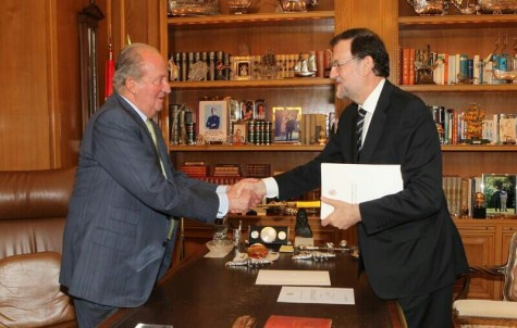 El rey y el presidente del Gobierno