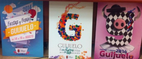 Carteles ganadores del concurso de Fiestas y Ferias 2014. Foto archivo.