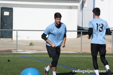 Dario y Rubi en un entrenamiento del C.D. Guijuelo