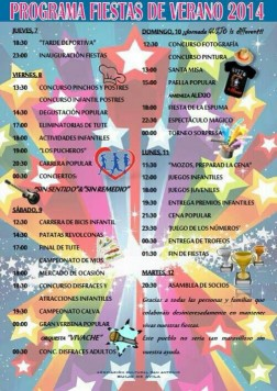 Programa de fiestas de Guijo de Ávila