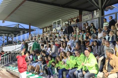 Afición en el partido de Copa del Rey en el Municpal de Guijuelo