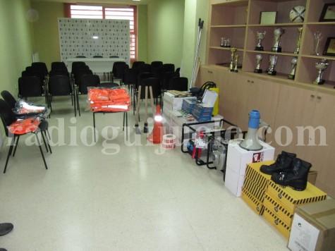 Material entregado a Protección Civil de Guijuelo. Foto archivo.