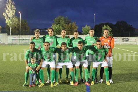 Once del C.D. Guijuelo en el partido de Copa del Rey en el Municipal.