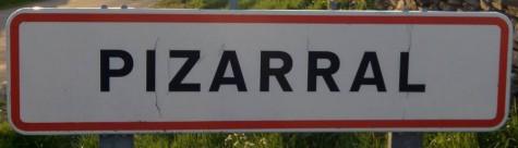 Cartel del municipio de Pizarral. Foto A.H.