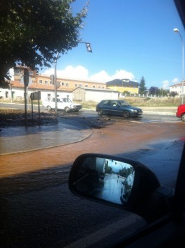 Reventón en Filiberto Villalobos. Foto R.M.B.