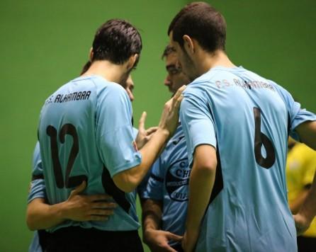 Jugadores del Alhambra de Guijuelo. Foto Salamancartv.