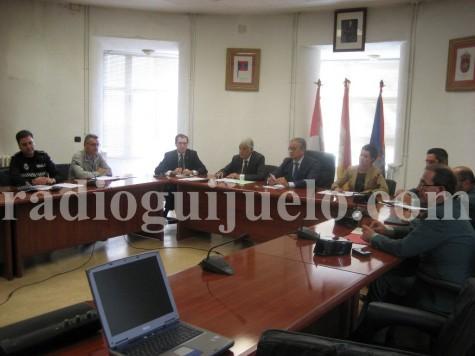 Junta Local de Seguridad celebrada en el Ayuntamiento de Guijuelo.