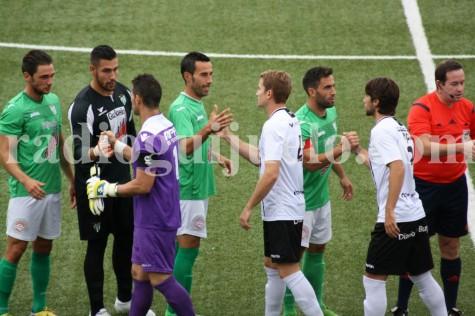 Partido entre el CD Guijuelo y el Burgos CF.