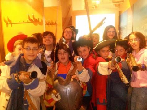 Alumnos del Cervantes en Siega Verde. Foto Colegio Miguel de Cervantes.