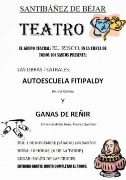 miercoles 1 nov teattro en SANTIBAÑEZ