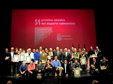 Ceemonia de los Premios al Deporte salmantinos. Foto Diputación de Salamanca