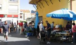 Mercado de los sábados en Guijuelo. Foto P.V.
