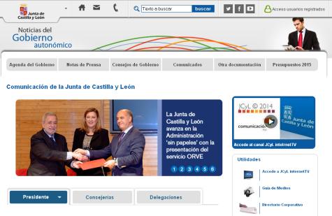 Página web Junta CyL