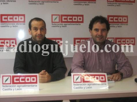 Reunión de CCOO en Guijuelo.